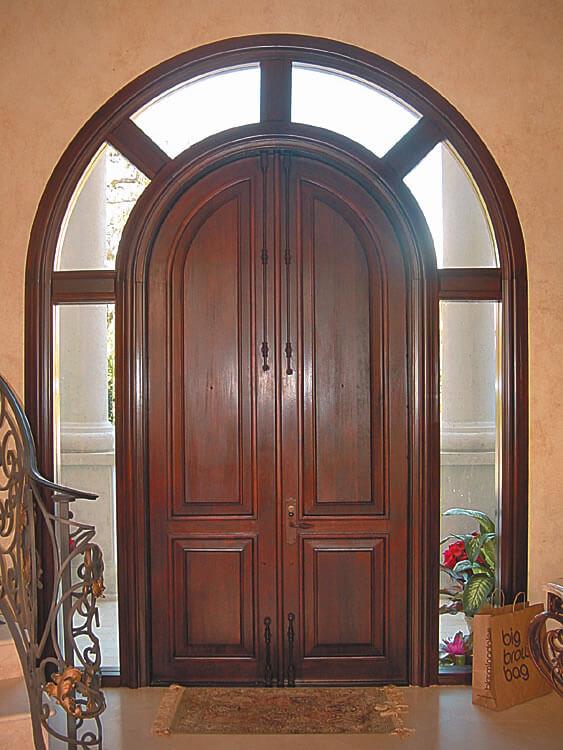 FRT. LAUDERDALE IMPACT MAHOGANY DOOR INTERIOR.