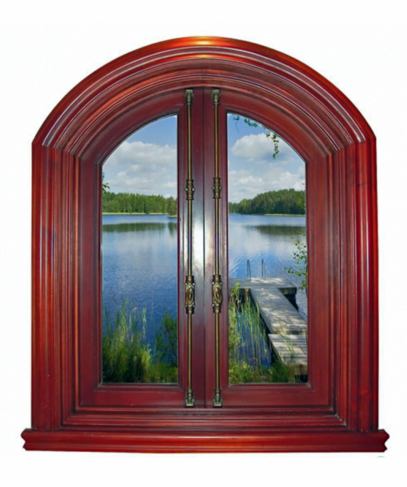 MODIGLIANI MAHOGANY WINDOW