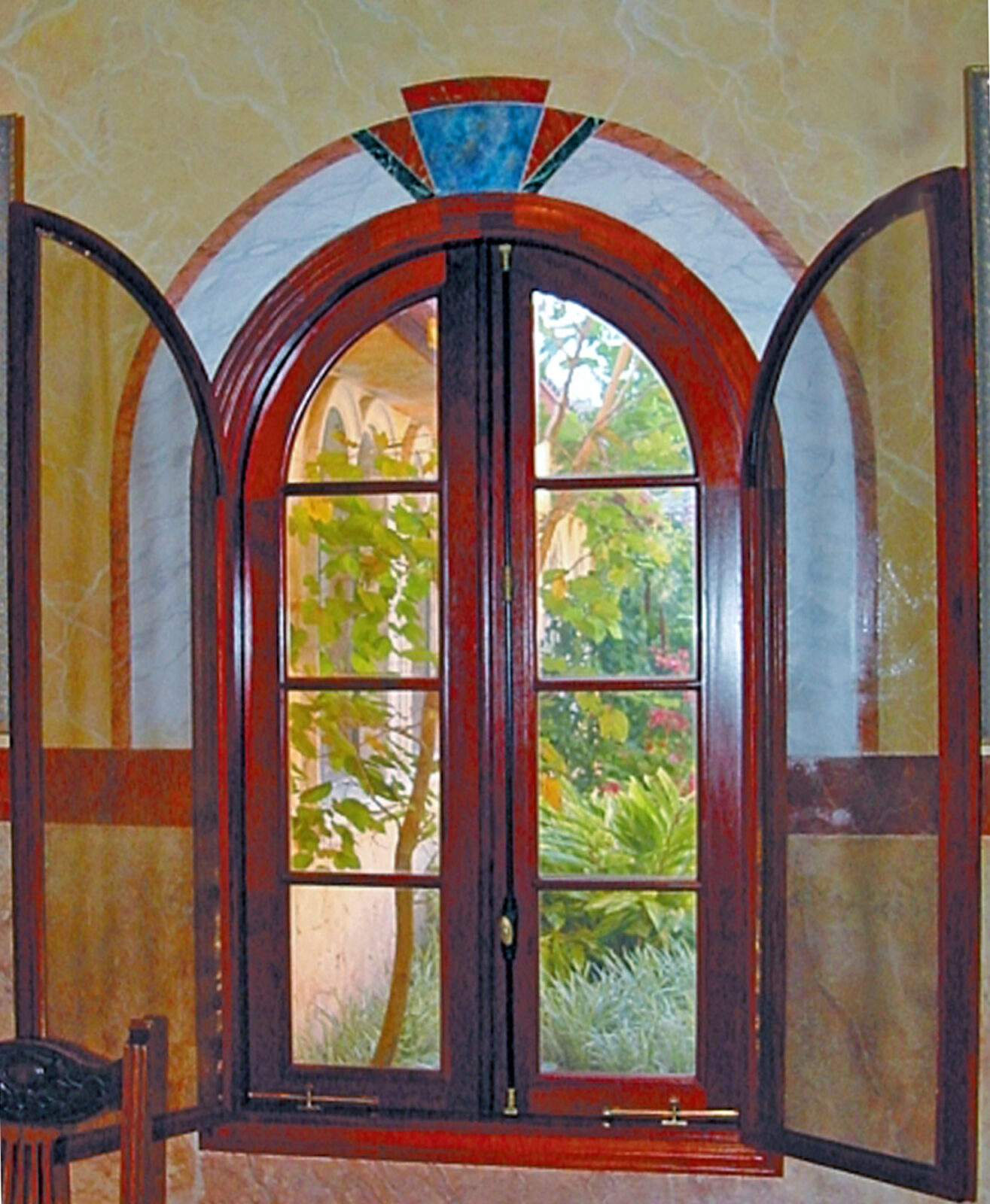 SANTA FE MAHOGANY CASEMENT WINDOWS.