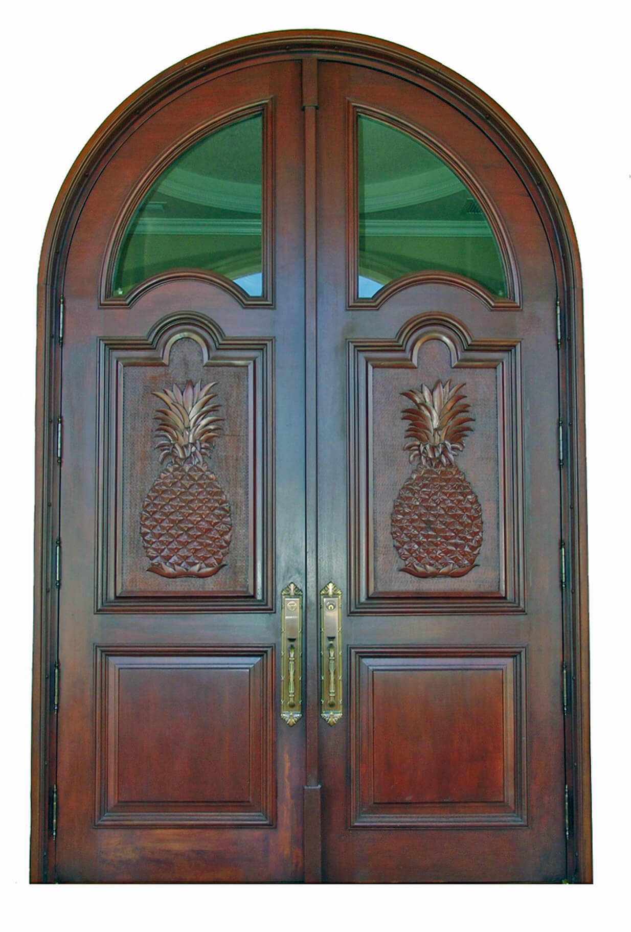 TAMPA MAHOGANY CARVED DOOR.