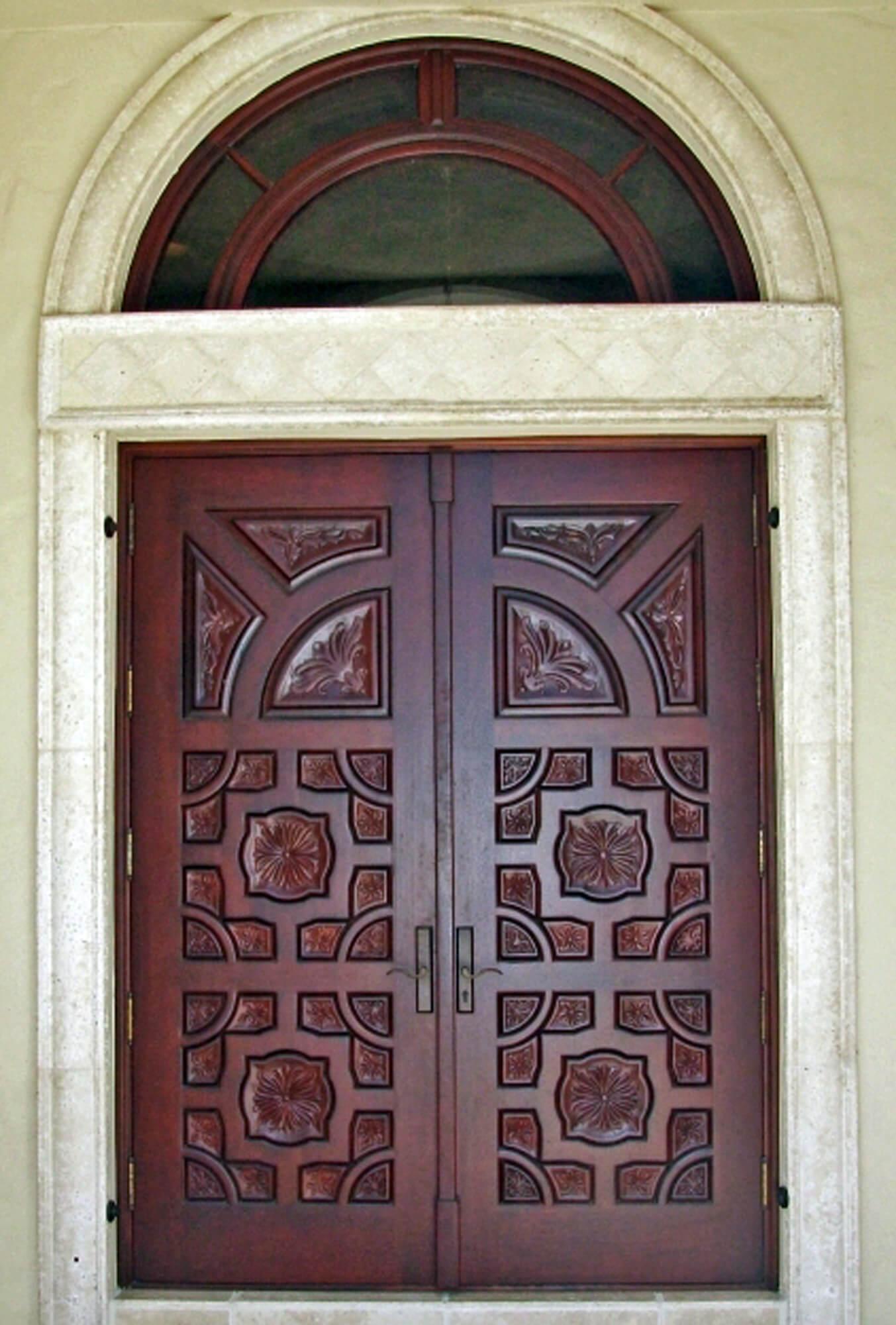 Granada Mahogany Carved Door