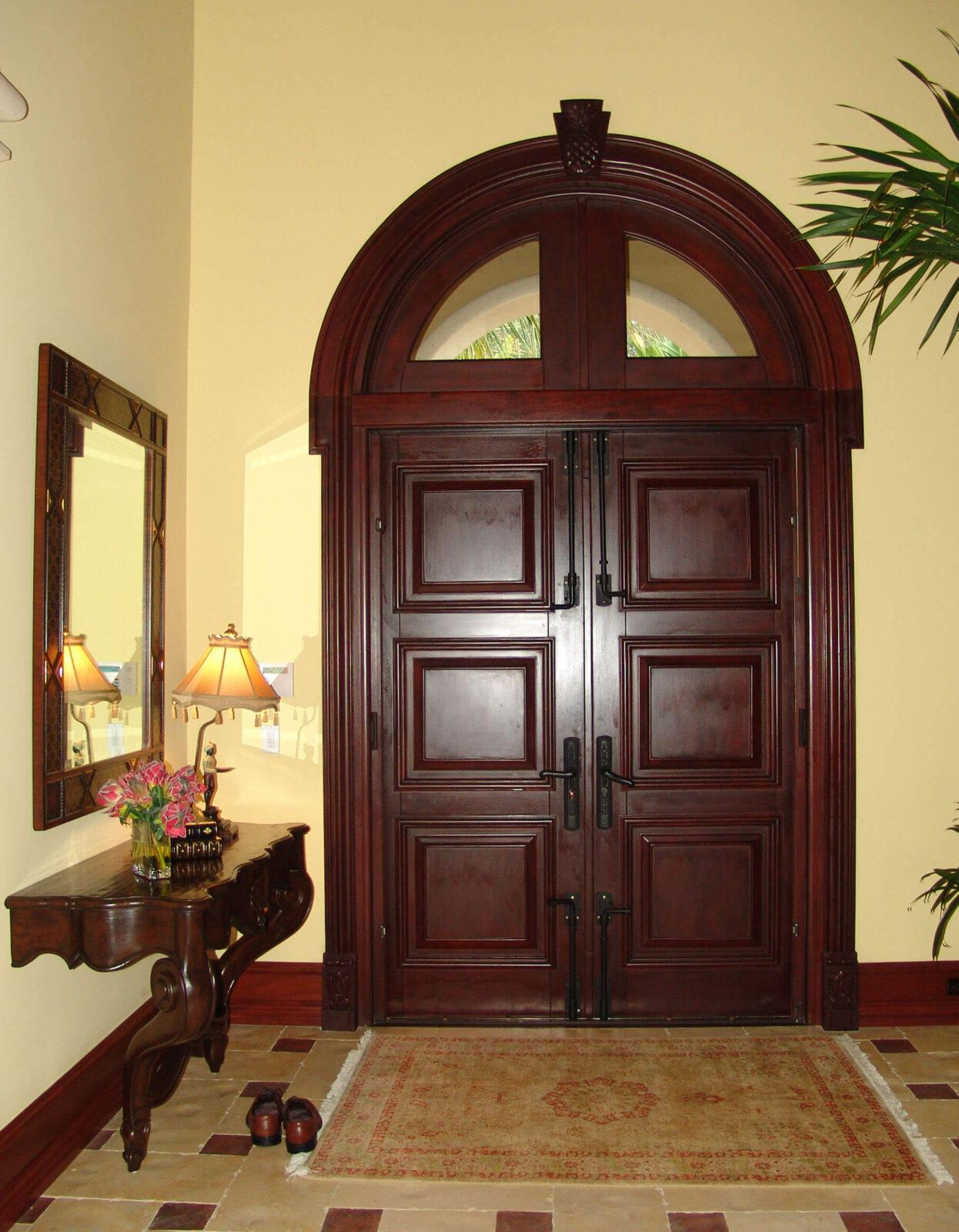 JUPITER MAHOGANY ENTRANCE DOORS INTERIOR VIEW
