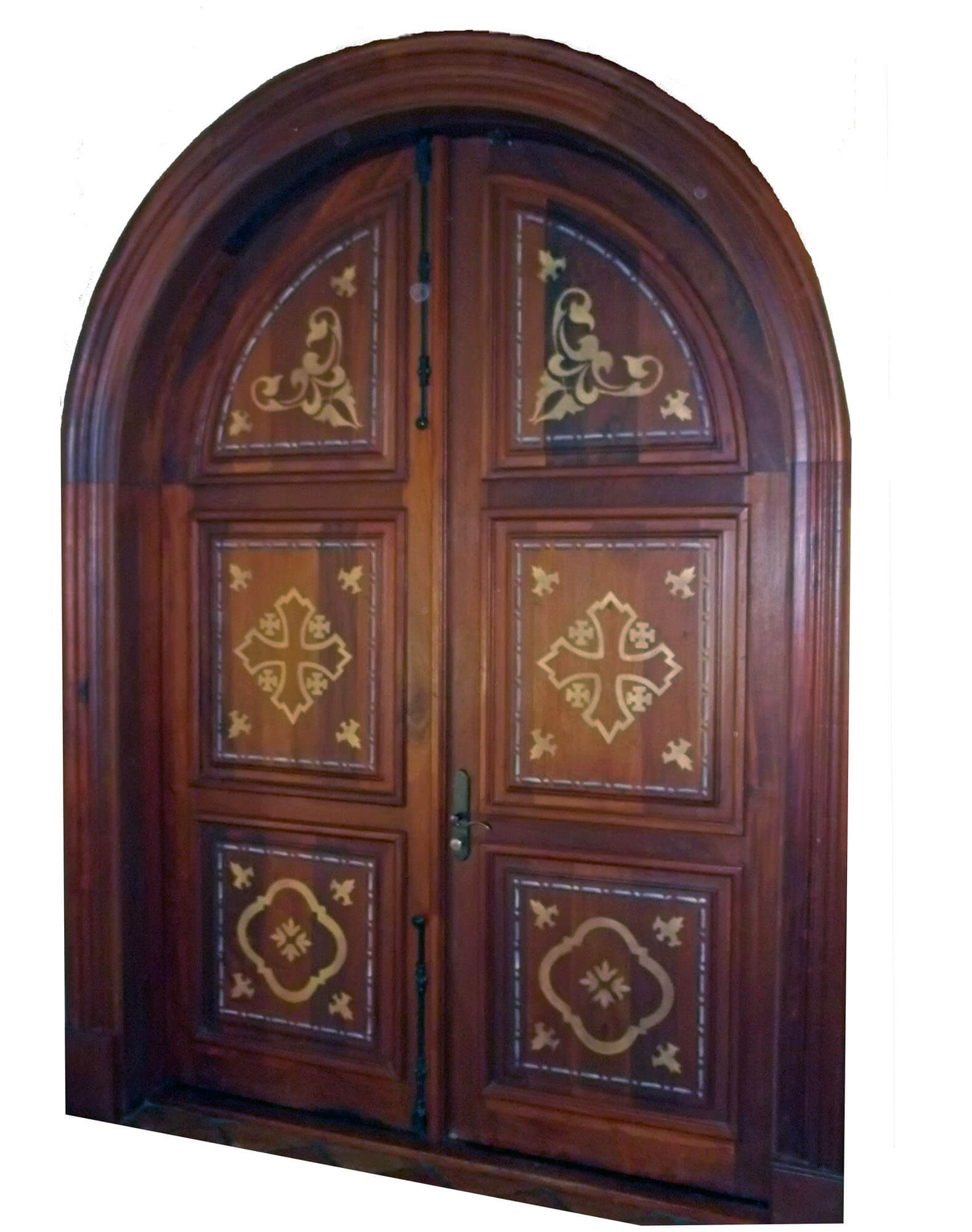 KENDALL MAHOGANY ENTRY DOOR INTERIOR VIEW.