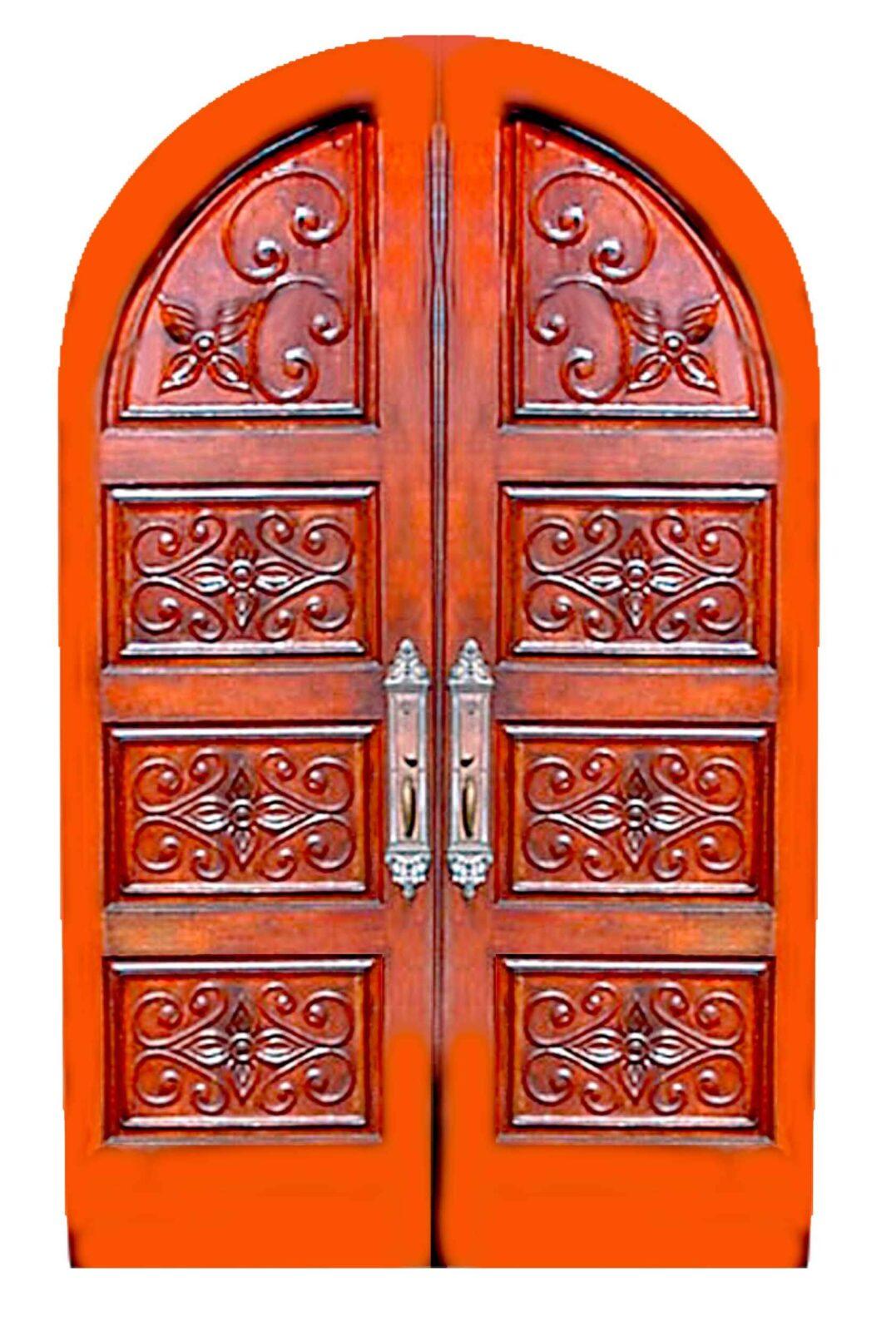 MIAMI BEACH MAHOGANY CARVED ENTRY DOORS