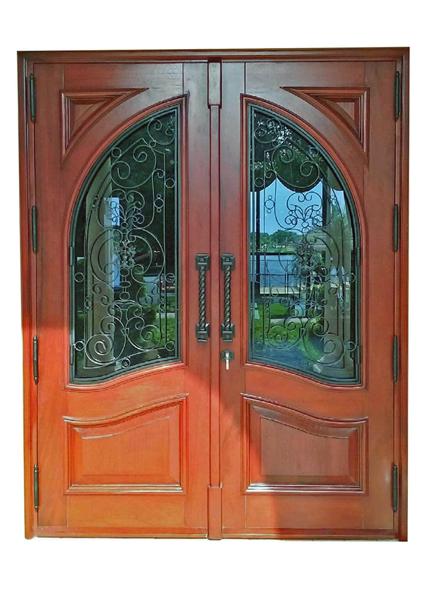 NEWPORT MAHOGANY FRONT DOORS.