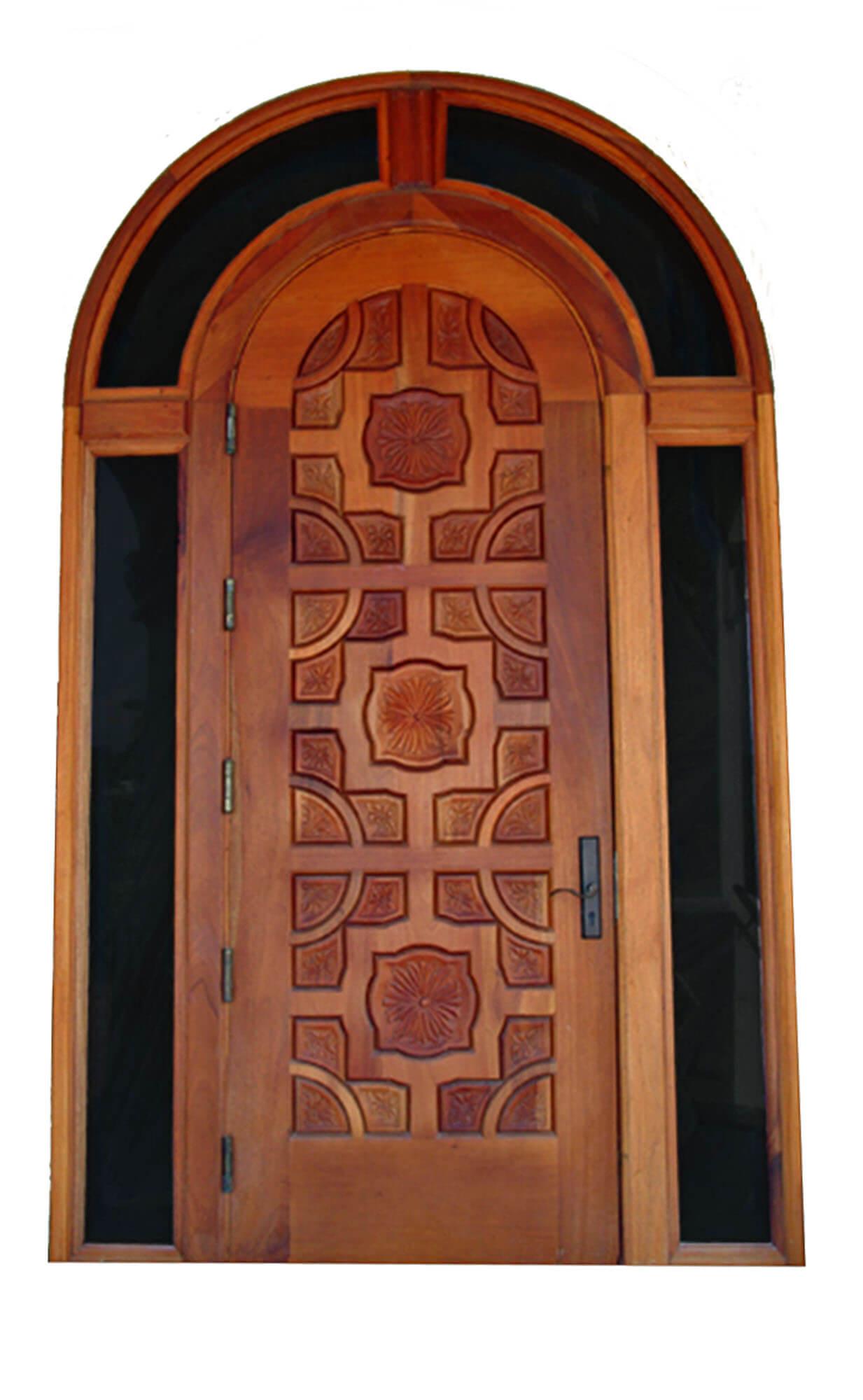 PLAYALINDA MAHOGANY CARVED DOOR.