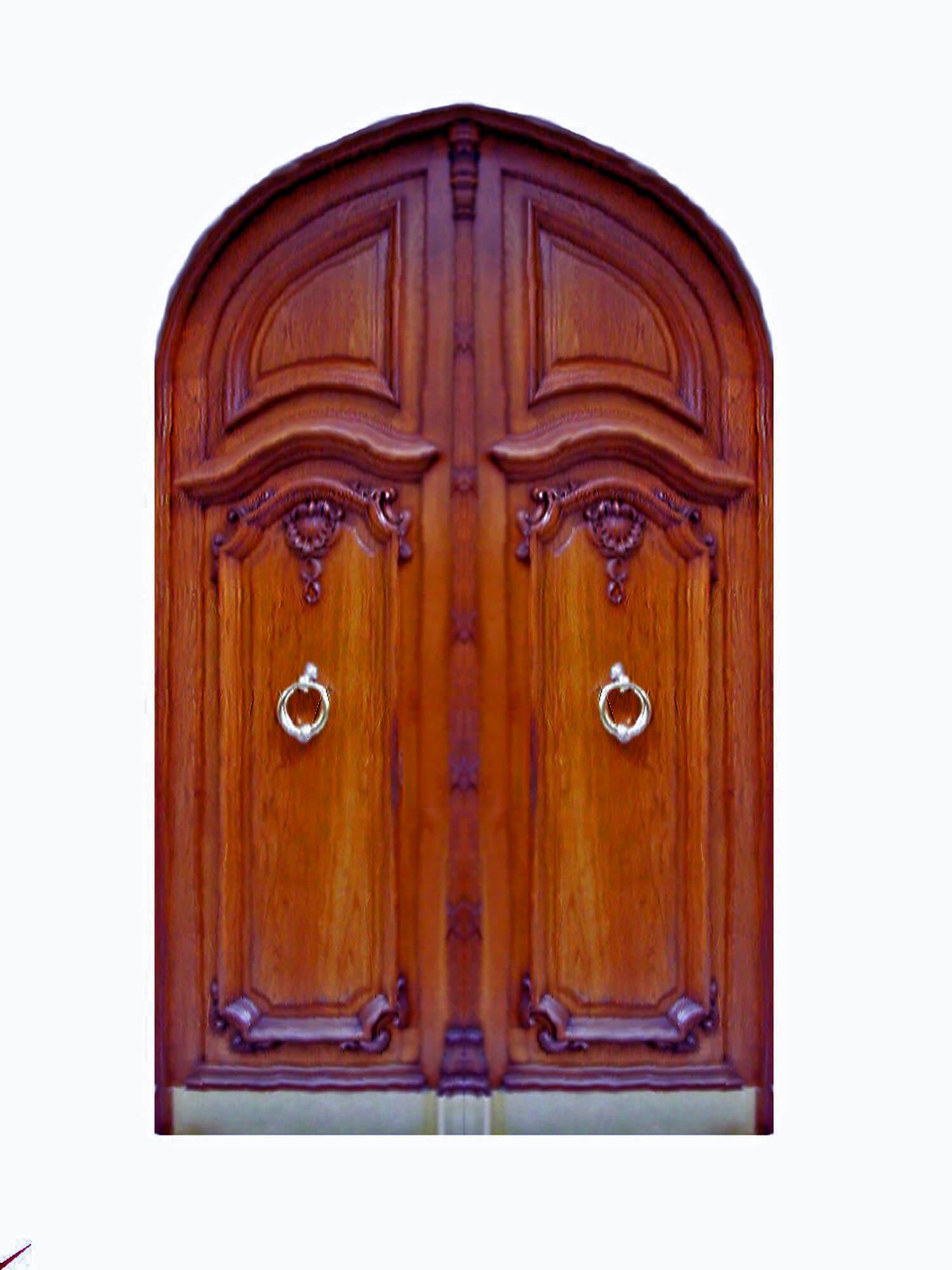 Big Pine Key Impact Mahogany Door