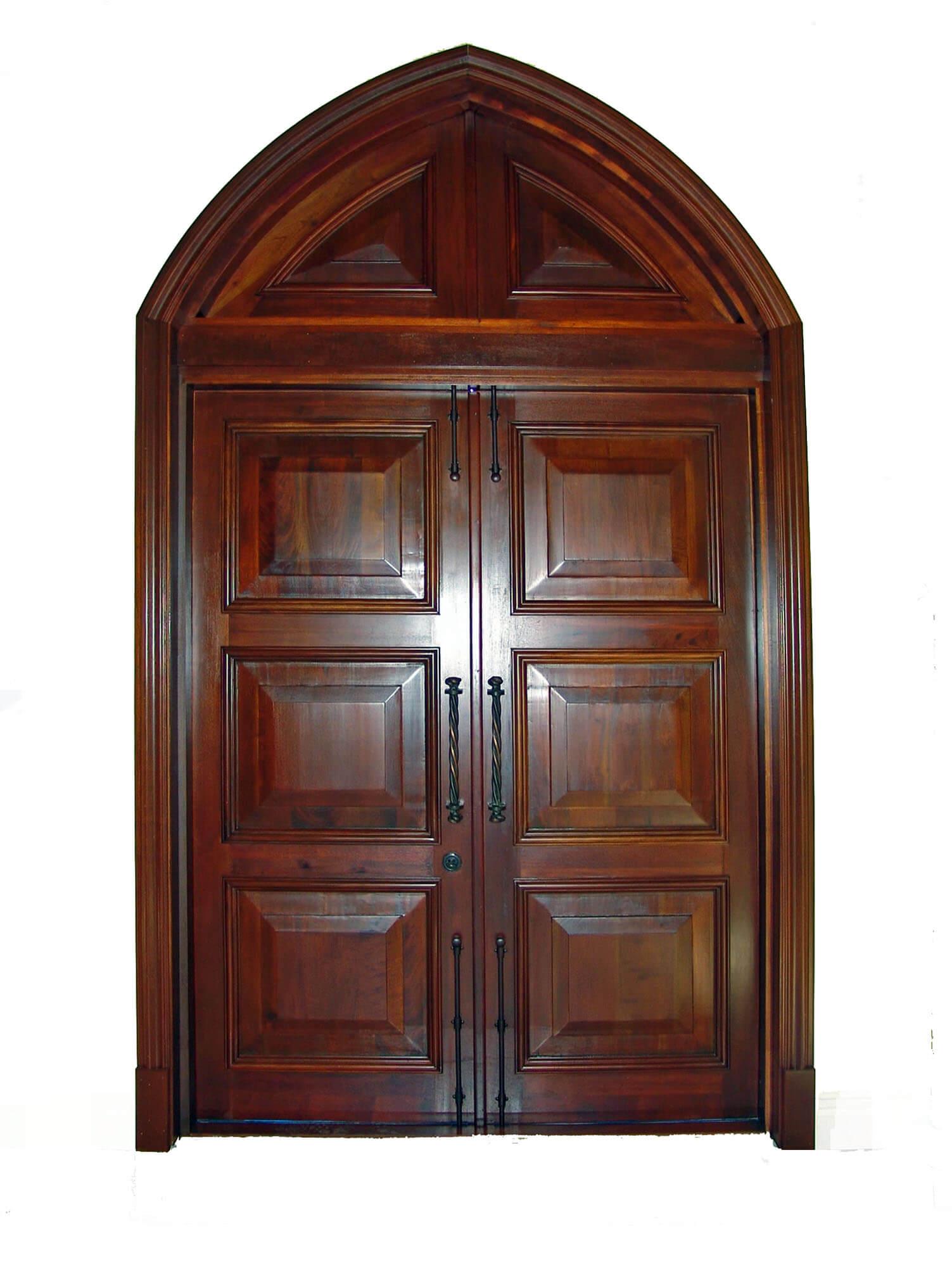 ST. PETE BEACH. MAHOGANY ENTRANCE DOORS.