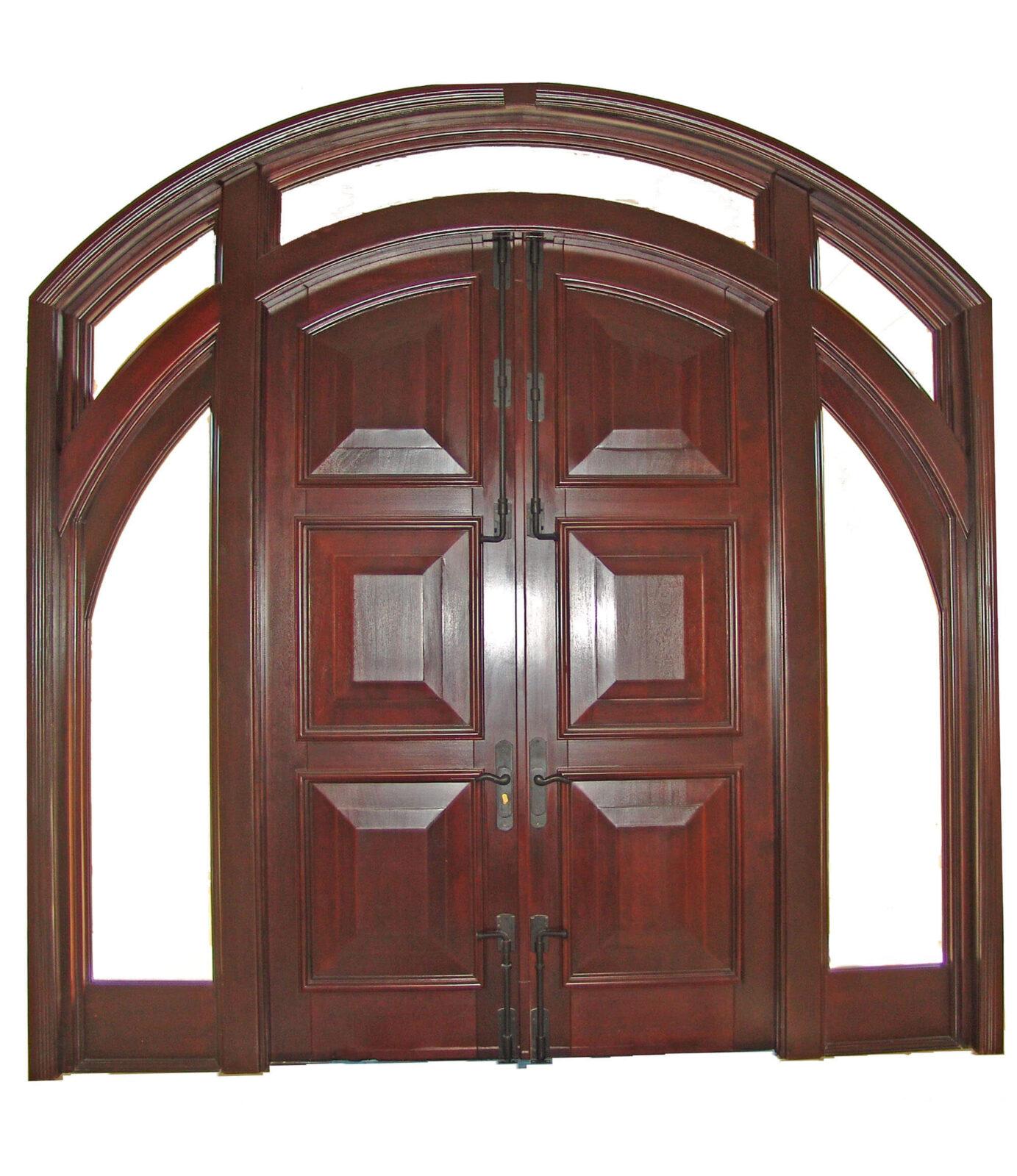 SUNSET POINT KEY MAHOGANY ENTRY DOORS INTERIOR