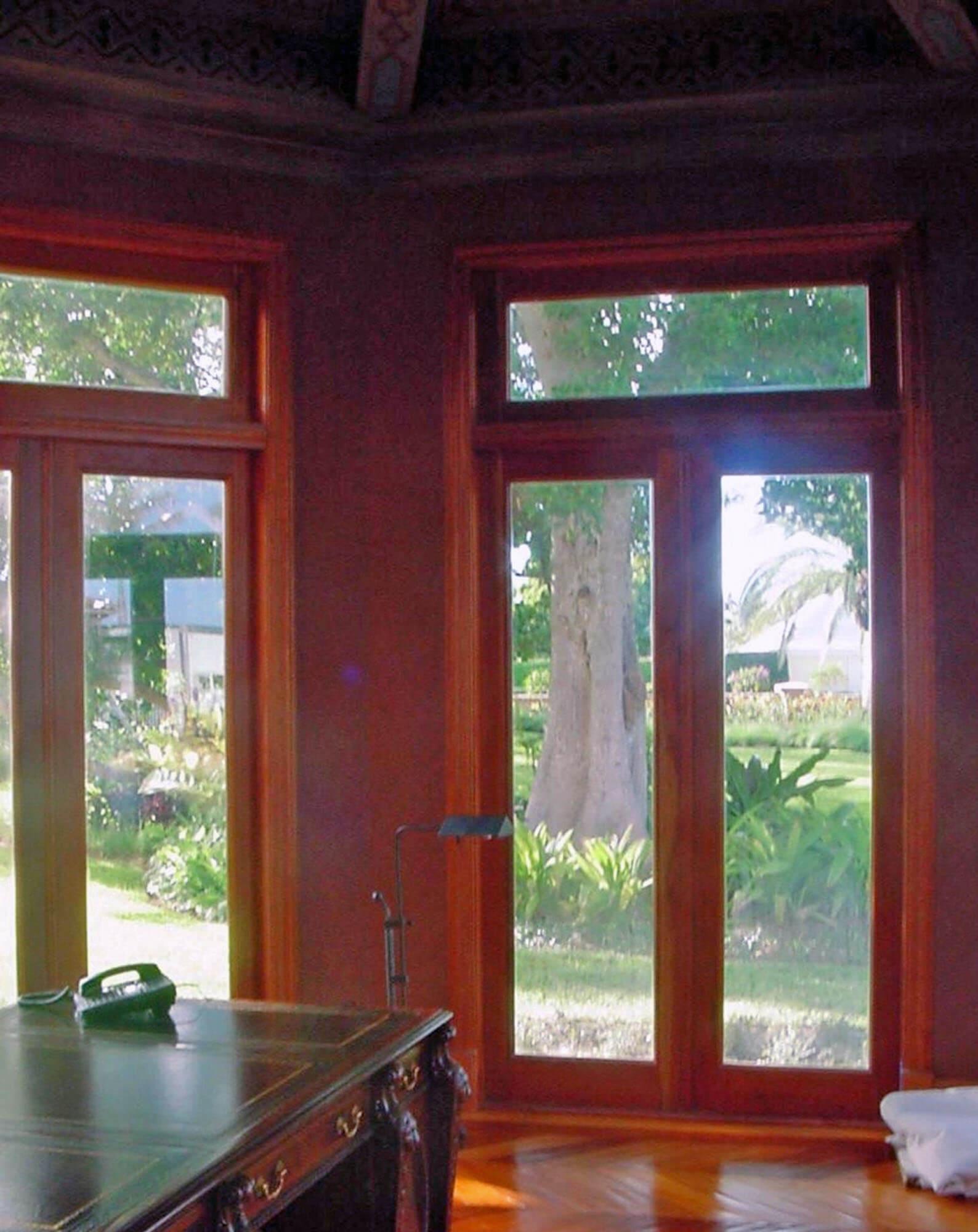 LANTANA MAHOGANY FRENCH DOORS.