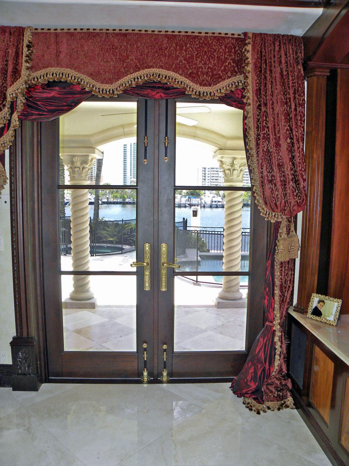 LAS OLAS MAHOGANY FRENCH DOORS.