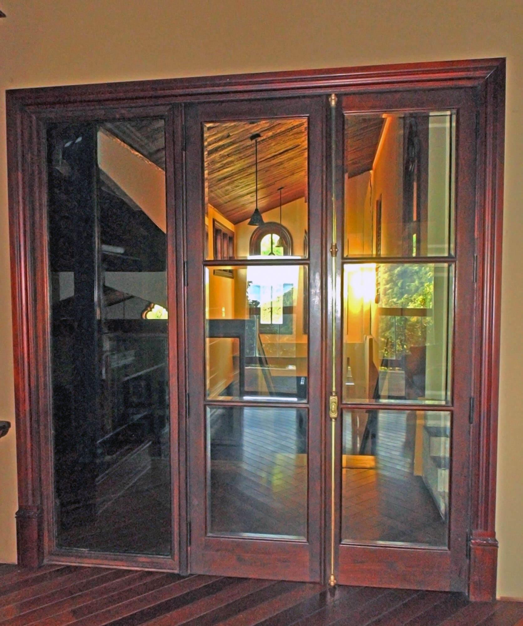 MIRAMELINDA MAHOGANY FRENCH DOORS.