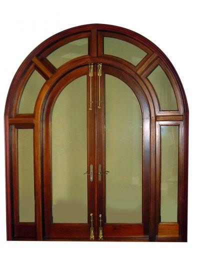 OLYMPUS MAHOGANY FRENCH DOOR SYSTEM.