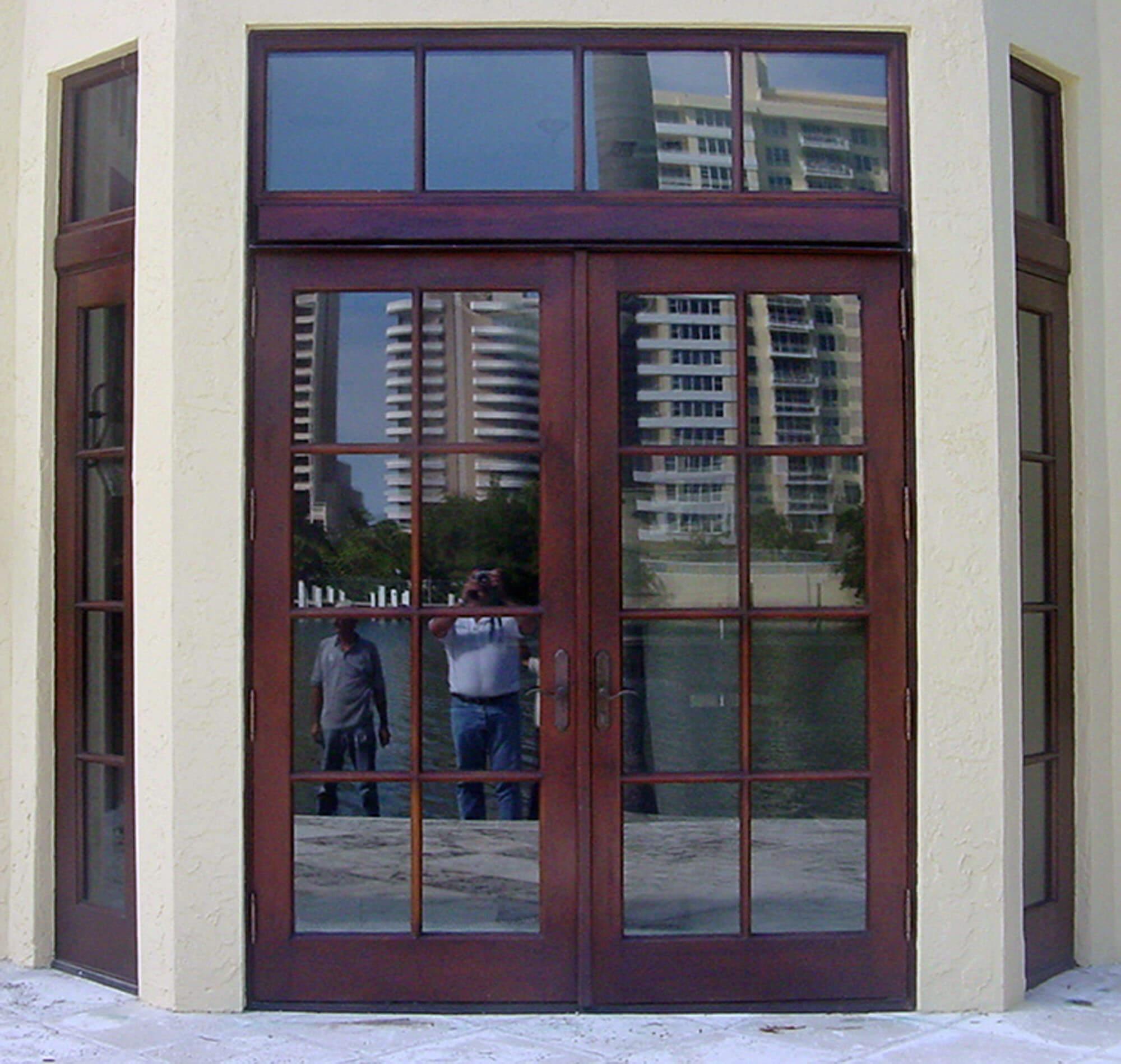 PINE TREE FRENCH PATIO DOORS.