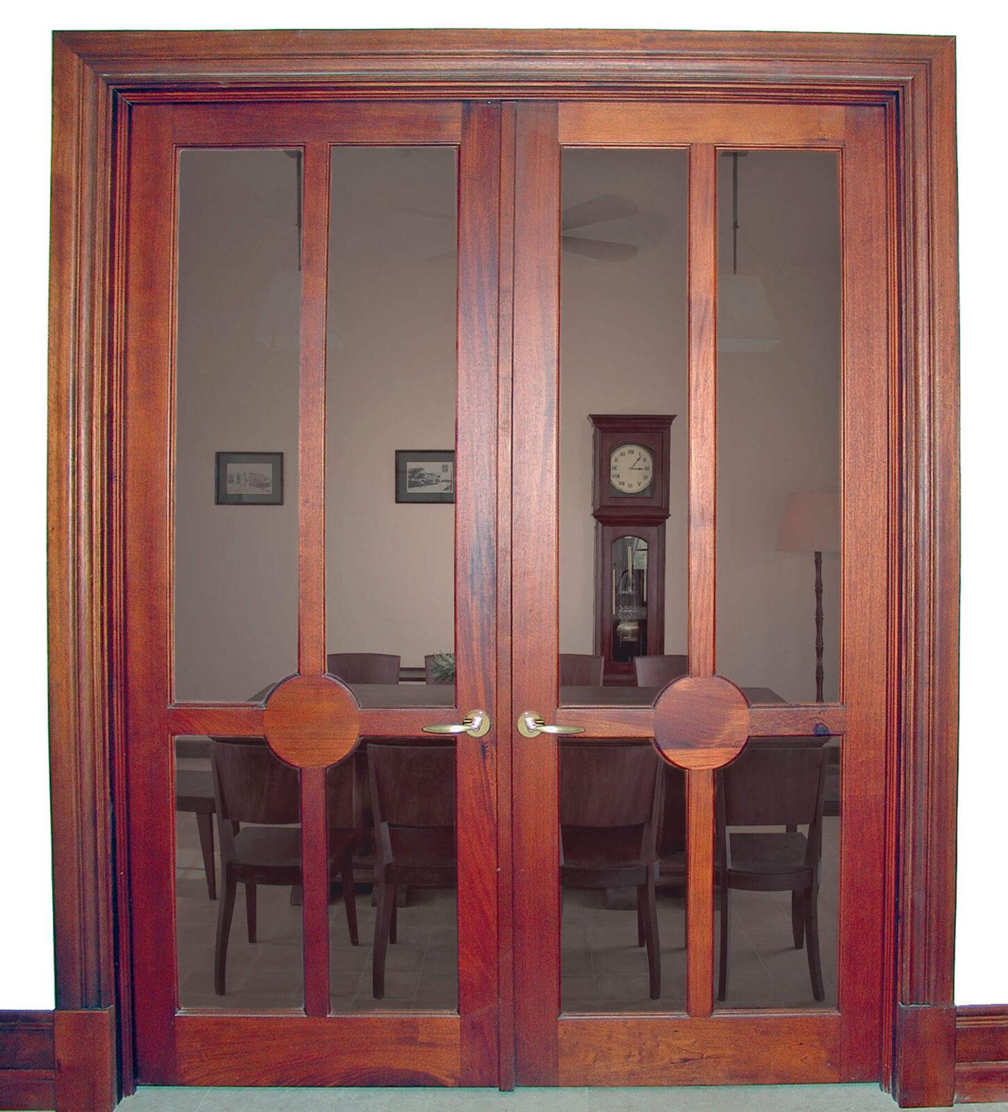 SOUTH MIAMI MAHOGANY FRENCH DOOR.