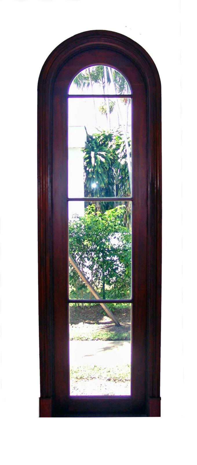 BAL HARBOUR FIXED ARCH GLASS DOOR.