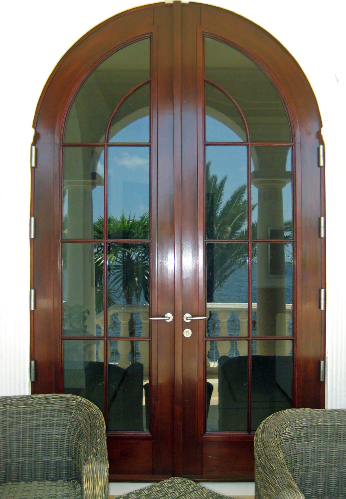 CORAL GABLES MAHOGANY FRENCH PATIO DOOR.