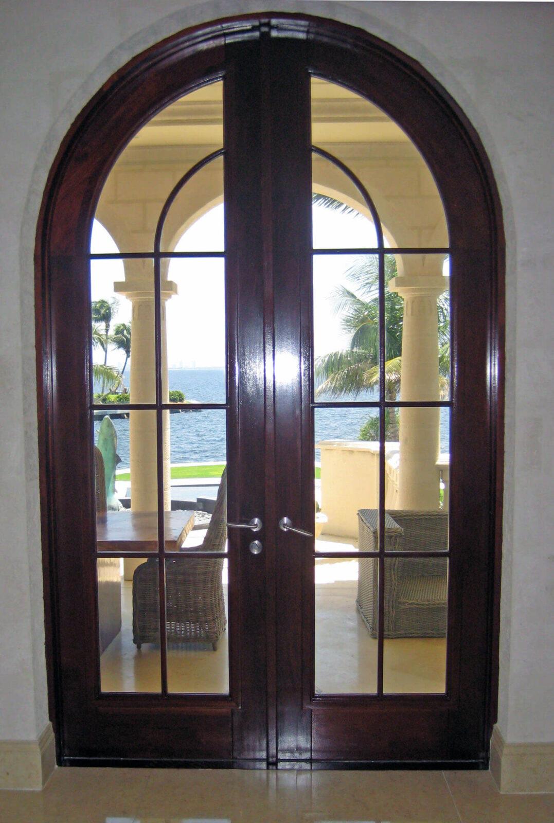 CORAL GABLES MAHOGANY PATIO DOOR.