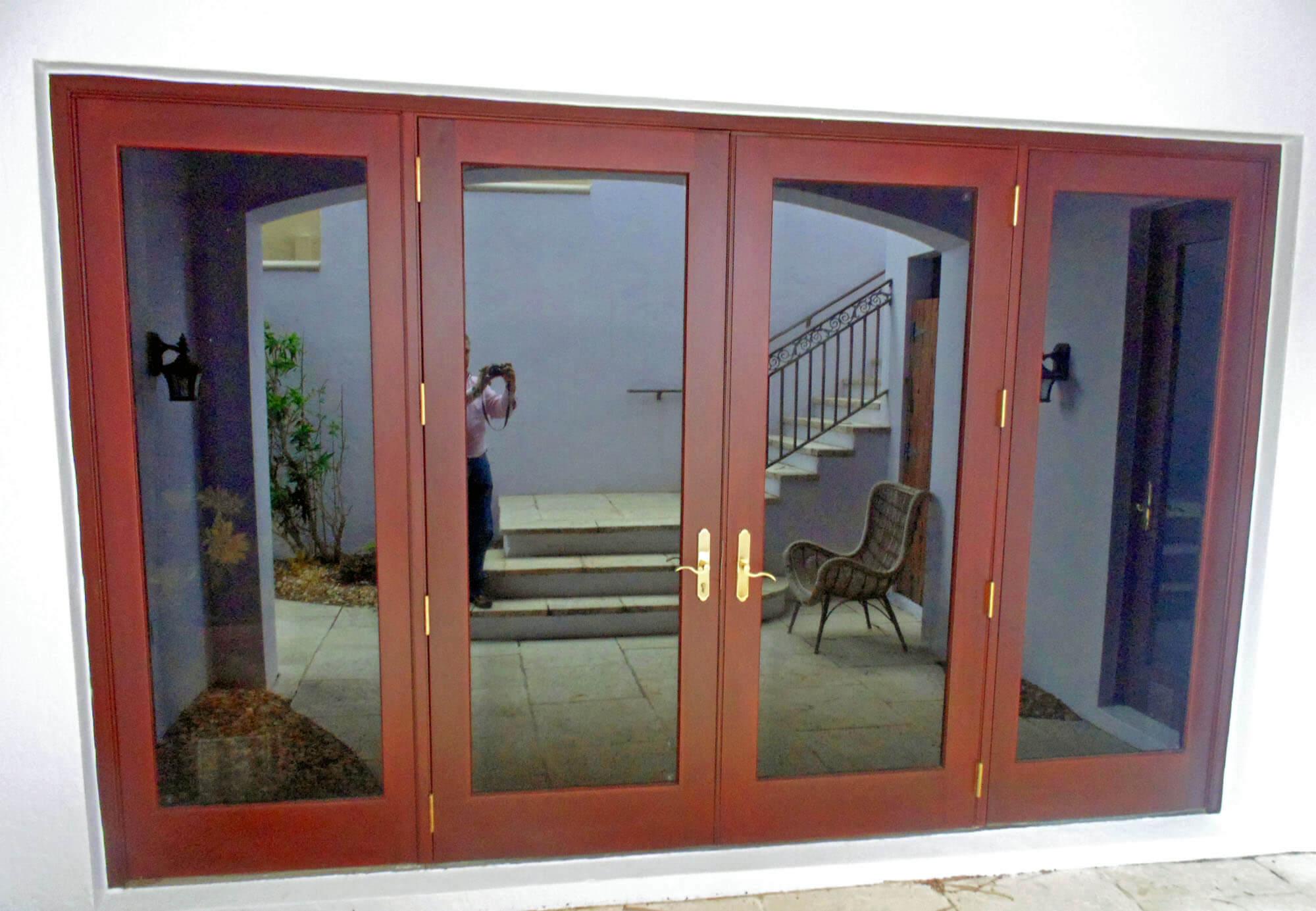 HIGHLAND BEACH MAHOGANY FRENCH DOORS.