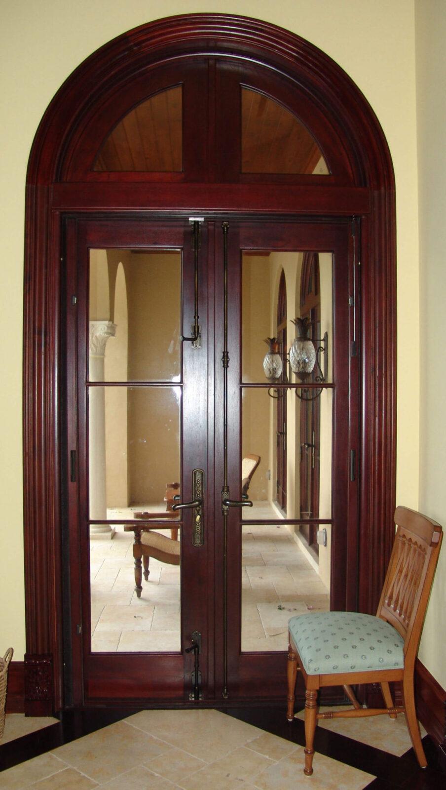JUPITER MAHOGANY FRENCH DOORS.