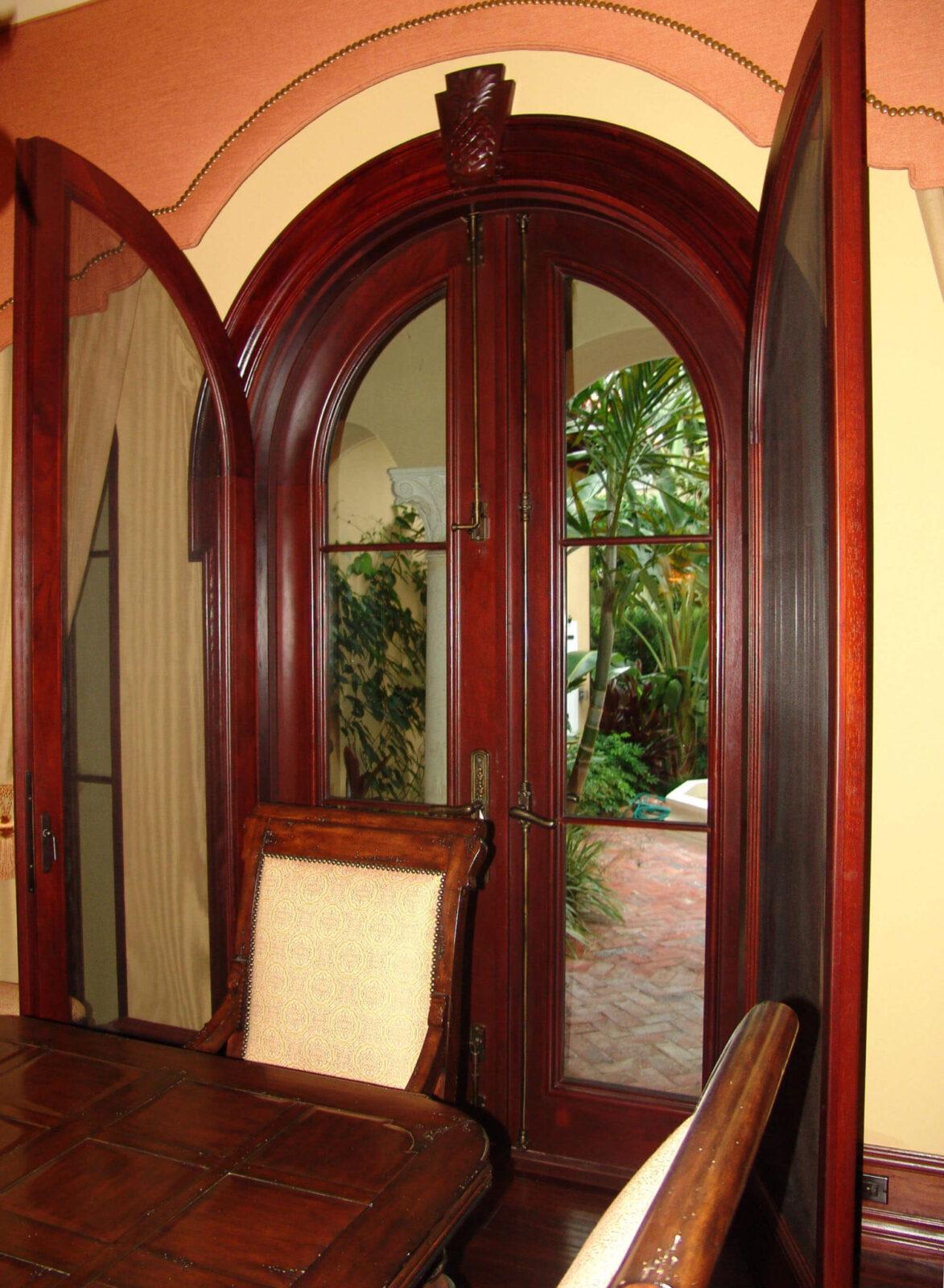 JUPITER MAHOGANY PATIO DOORS