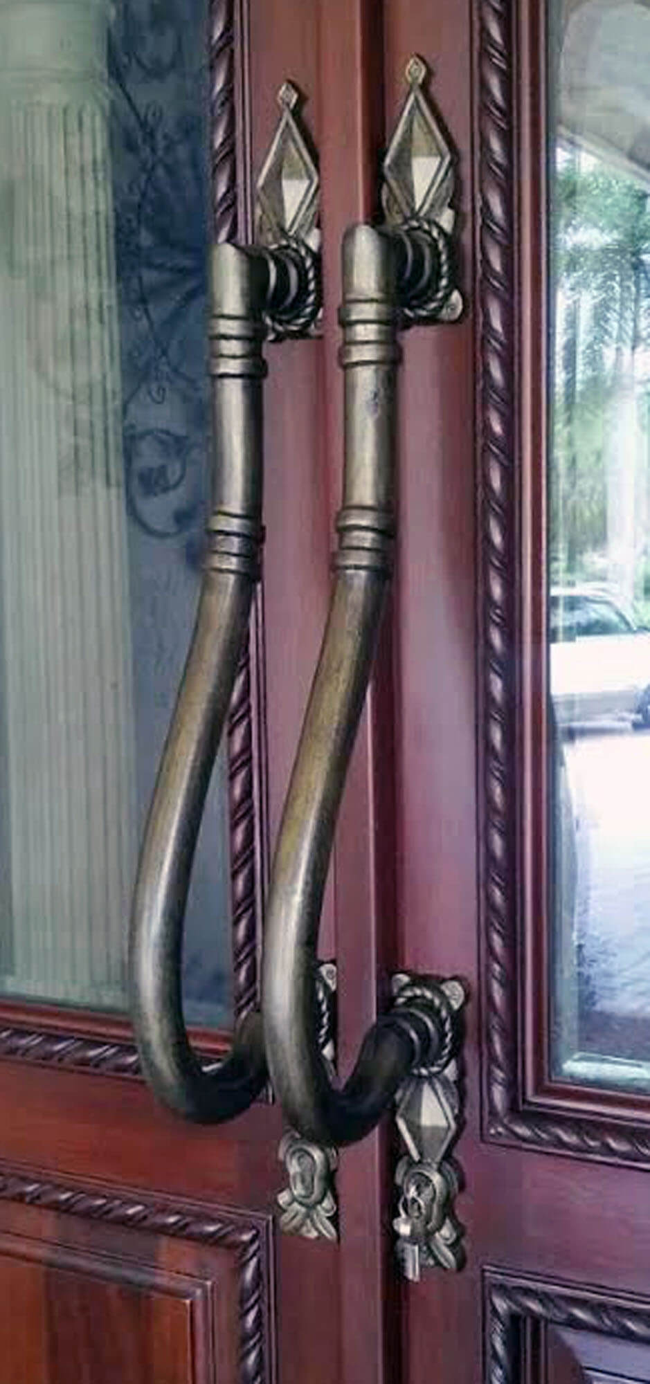 Brickel Pull Antique Brass