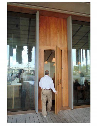contemporary doors teak museumm